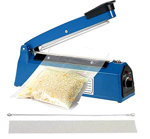 Corslet Heat Sealing Machine for Plastic Bag 12 Inch Automatic Electric Hand Sealer Home Use Portable Seal Packing Heat Sealer Machine Handheld for Plastic Bags Packaging Hand Table Top Pouch Packing