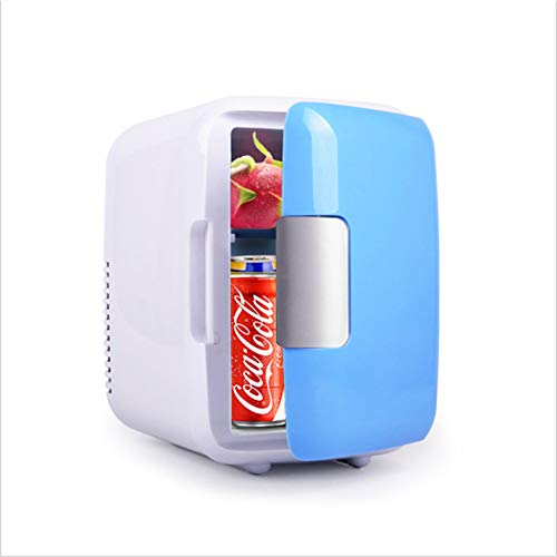 Ljlucky mini frigorifero portatile compatto portatile (4 litri / 6 lattine), raffredda e riscalda, capacità di 4 litri per picnic, barbecue, campeggio, portelloni e all'aperto