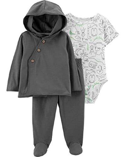 Carter's Baby Boys 3-Pc. Dino-Print Bodysuit, Hoodie & Pants Set (Baby Boy Carters)