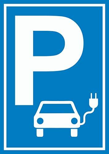 HB-Druck Parkplatz Elektrofahrzeug Schild A4 (210x297mm)