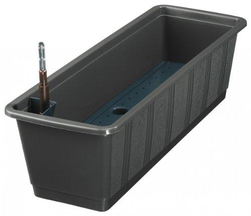 Geli 837 080 38 Bewässerungskasten Aqua 80 cm, anthrazit mit Wasserstandanzeige