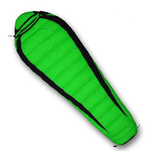 TAHRH daunenschlafsack Ultraleicht,Outdoor-Schlafsack, Vier Jahreszeiten universal, wasserdichte Daunen für Erwachsene @ 1800g_White_Goose_down_Green -