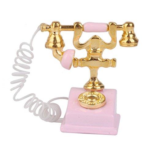 honeysuck miniatura teléfono Retro Vintage teléfono para 1/12Dollh