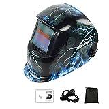 MOGOI Casco de soldadura profesional, con soldador solar, con parasol de oscurecimiento automático con amplia gama de lentes ajustables, máscara de soldadura 4/9-13 para Arc Tig Mig Plasma