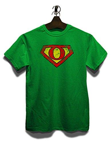 O Buchstabe Logo Vintage T-Shirt Grün