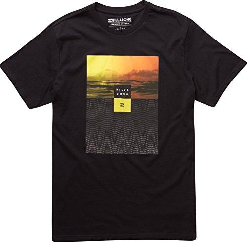 Billabong Witness SS Tee-Maglietta per uomo, UOMO, Witness SS Tee, nero, (Mens Comfort Nucleo)