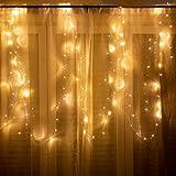 100er LED Lichterkette für innen und außen - 12 Meter Gesamtlänge | 100 LEDs warm-weiß - kein lästiges austauschen der Batterien | NICHT batterie-betrieben sondern mit Netzstecker | von CozyHome