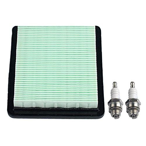 HIPA Filtre à air + Bougie d'Allumage pour Honda GC135 Tondeuse à Gazon GC160 GC190 GCV135 GCV160 GCV190 GX100 GXV57 GS160 GS190 GSV160 GSV190 F220 HRS216PDA HRS216SDA HRT216PDA HRT216SDA HRT216PTA remplace 17211-ZL8–000 17211–003 NGK BPR5ES BPR6ES