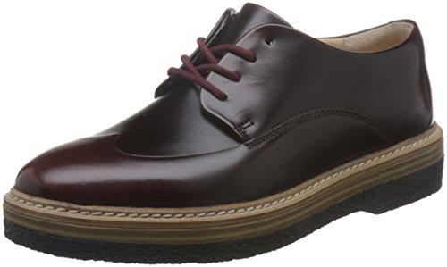 Clarks Zante Zara, Zapatos de Vestir para Mujer, Morado (Burgundy Leather), 42 EU