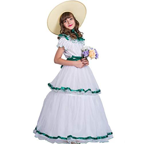ider Südliches Mädchen Rüschen Ebenen Kostüm Für Karneval Party Weihnachten Halloween-Kostüm,L ()
