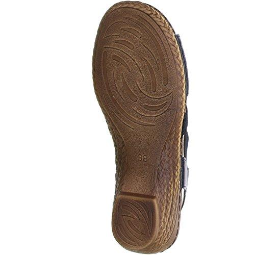 Vista Damen Sandaletten schwarz Schwarz