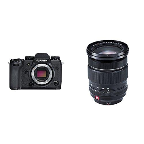 Fujifilm X-H1 - Cámara digital sin espejo, kit con empuñadura vertical, color negro + Fujifilm Fujinon XF 16 - 55 mm f/2.8 R LM WR - Objetivo para Fujifilm con montura X, negro