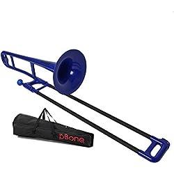 pBone PBONE1B - Trombón (plástico), color azul y negro