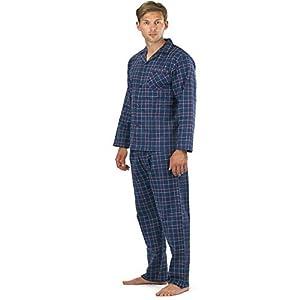 64e2fb900 Hombre Perchado 100% pura% Pijama De Algodón Cálido De Invierno Franela  Térmico M L XL XXL