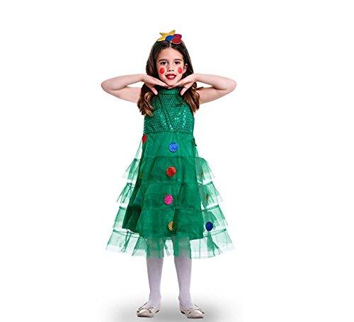 Imagen de disfraz de arbol navideño tules para niña