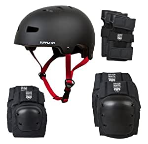Shaun White Supply Combo Pack Helmet and Pads - Black, X-Small