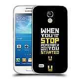 Head Case Designs Don't Stop Fitness Motivation Soft Gel Hülle für Samsung Galaxy S4 Mini I9190
