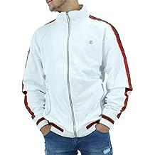 Rocawear Blanco de Hombre Ligero Cremallera Chaqueta de Chándal
