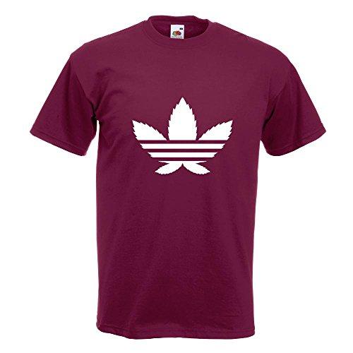 KIWISTAR - Cannabis Hanfblatt T-Shirt in 15 verschiedenen Farben - Herren  Funshirt bedruckt Design