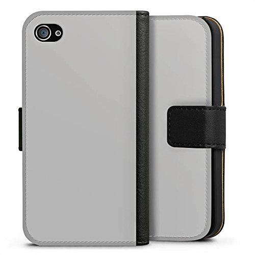 Apple iPhone X Silikon Hülle Case Schutzhülle Graphit Grau Grey Sideflip Tasche schwarz