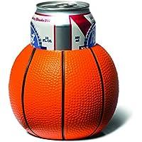 Big Mouth Toys - Enfriador de bebidas, diseño de pelota de baloncesto, color naranja