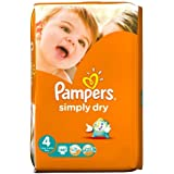 Pampers Simply Dry couches Taille 4Grand étui de 46par lot de 1