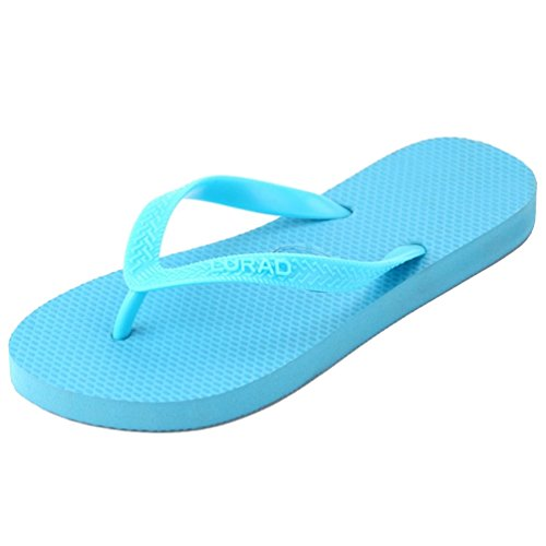 Baymate Unisex Adulto Infradito Casuale Sandali Spiaggia Pantofole Coppie Flip Flops Donna Blu