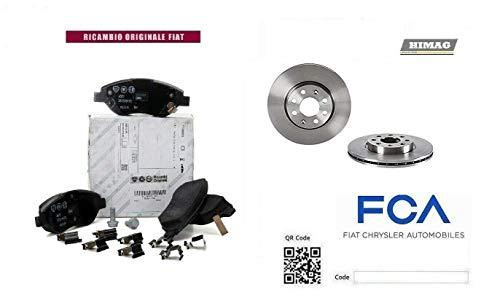 Dischi + Pastiglie Freno Anteriori ORIGINALE 500 L 1.4 LPG 1.6 MTJ 88 Kw