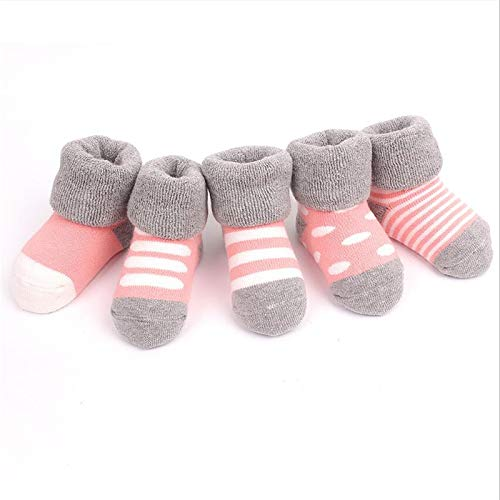 4d1a50b15d2aa 5 Paar/Set Winter Baby Jungen Mädchen Socken Baumwolle dick Kinder Socken  gestrickt Neugeborene Baby Kleinkind Boot Winter Full Socks 0-2 Jahre