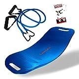 Lemura All in One Fitness Balance Board - inkl. 2 Abnehmbaren Fitnessbändern und Übungsanleitung - Das perfekte Twist Board für Gleichgewicht und Energie im Alltag
