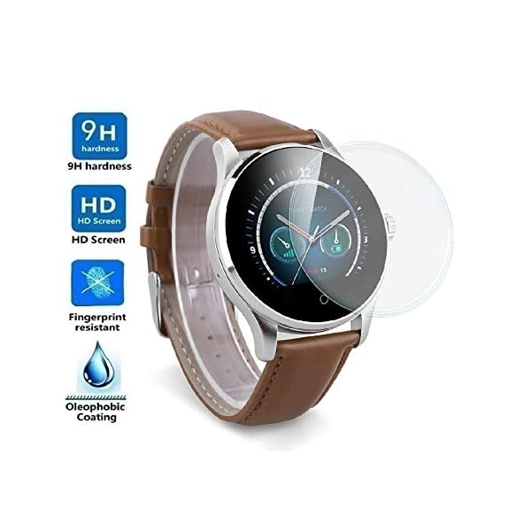 Protector de Pantalla Universal para SMARTWATCH o Reloj de 38mm, Cristal Vidrio Templado Premium 2