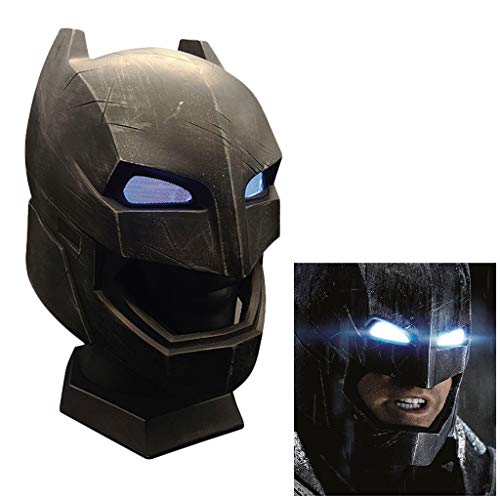 K-Flame Halloween Cosplay Prop Batman mit Lichter Tactical Helm Erwachsenen Themen Party Rollenspiel Kostüm Zubehör für Weihnachten Ostern (Erwachsene Thema Halloween Kostüme)