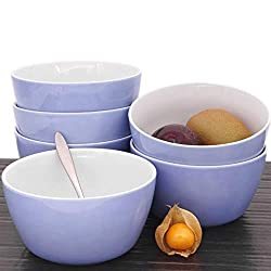 Kahla 39G107A69357C Wildblume Schalen Set blau ohne Dekor 6-teilig 14 cm rund Müslischüssel für 6 Personen Porzellan Suppenschüssel EIS Salat