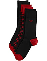 Emporio Armani Herren Socken Coloured Basic Stripe 3 Pack