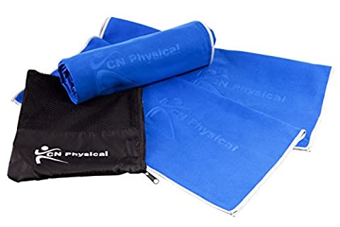 Premium 3 Microfiber Fitness Towel Bundle. Fast Drying , Perfect for Gym & Travel, Just What You Need For Yoga, Sports, Golf, Swimming. Large Bath, Hand & Face Towel. CN Physical