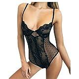 MEIbax Lencería Erotica de Mujer Corset Lace Underwire Racy Body Sexy Ropa de Dormir Ropa Interior Camisón Perspectiva de Encaje de lencería Hueca Babydoll Traje Especias Tentación Conjuntos Pijamas