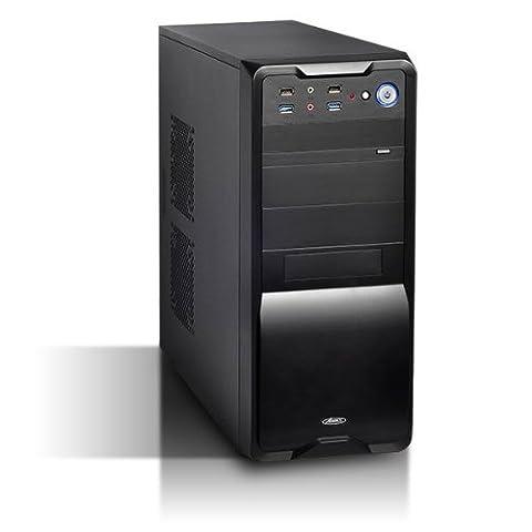 Advance Black Burst Boîtier PC en acier avec Alimentation 480 W ATX/Micro-ATX/ITX Noir
