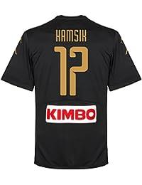 Napoli 3rd Hamsik camiseta 2016 2017 (diseño de abanico printing), Unisex, negro, XL