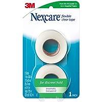 Nexcare - Cinta de primeros auxilios flexible, transparente, de la marca líder en cintas