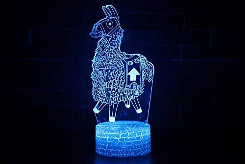 3D Lampe Licht Nachtlicht Illusion Jungen Mädchen Baby 7 Farben Kinder Zebra,Led Touch Fernbedienung Tisch Schreibtisch Lichter Farbwechsel Usb Geburtstagsgeschenke Optische Dekoration Lampen (Dekorationen Tisch Zebra)