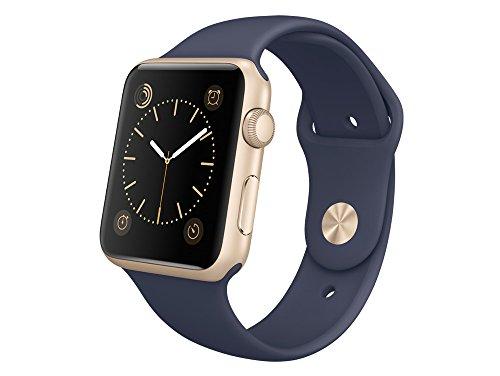 Apple MLC72FD/A Aluminium Sportarmband für Apple Watch (42 mm) gold/blau
