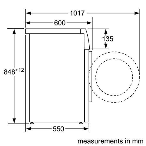 Siemens iQ300 WM14N2A0 Waschmaschine Frontlader / A+++ / 157 kWh/Jahr / 1390 UpM / 7 kg / Weiß / Großes Display mit Endezeitvorwahl / WaterPerfect - 3