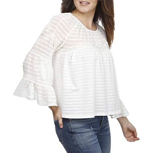 Lucky Brand Women's Bell-Sleeve Shadow-Stripe Top -