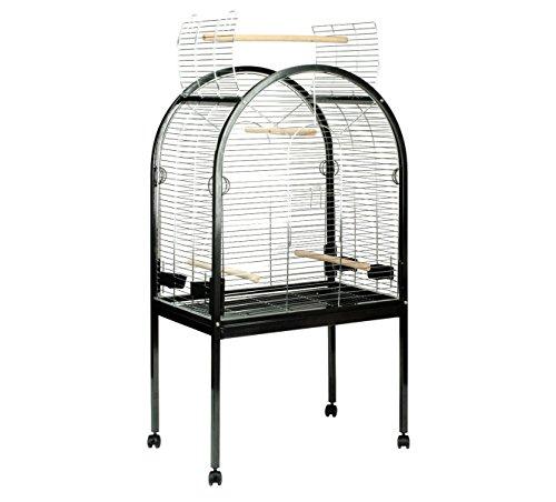 DUVO+ 498/037 Papagei Käfig Pearl Chrome, schwarz (Papageien-käfig Groß)