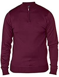 Hommes Pulls D555 Duke Pull Tricot Pull-over Grand King Size Fermeture Éclair Hiver