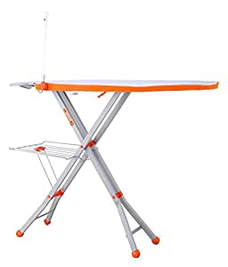 Bathla X-Press Ace Ironing Board / Stand with Multi-Function Tray, Wire Manager and Aluminised Ironing Surface + 2 Year Warranty