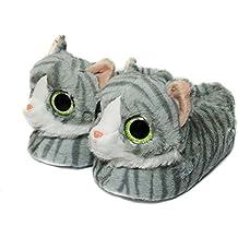 Zapatillas De Animales Para Mujeres, Pantuflas Zapatillas De Invierno Gato Para Mujeres