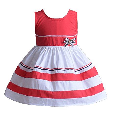 Cinda Mädchen Reifen Baumwolle-Party-Kleid Melina Rot 80-86