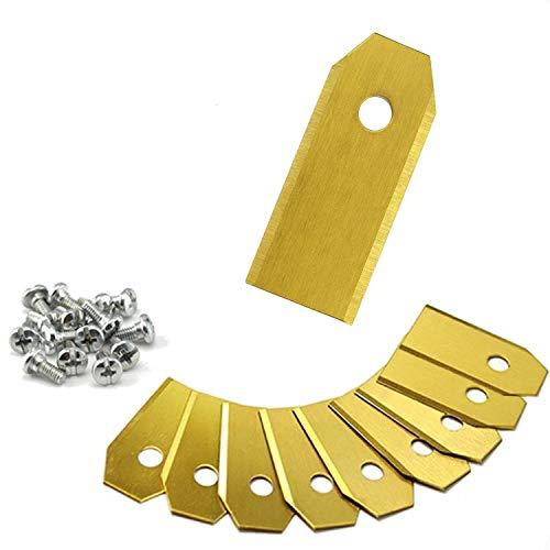 XXL Ersatzmesser für Mähroboter | 9x Titan Messer | 43 mm Länge | 0,75 mm | Zubehör für Husqvarna Automower und Gardena Mähroboter | Rasenmähermesser | Rasentrimmer
