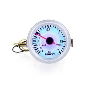 """douself Turbo Boost Gauge vide pression compteur pour la voiture auto 2 """"52mm -1 ~ 2BAR LED de couleur bleue"""